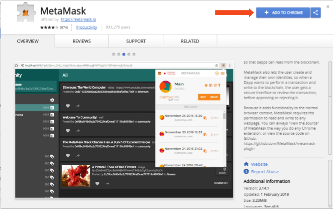 How to add metamask to chrome