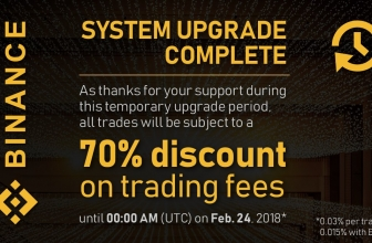 Binance Announces 70% Discount on Trading Fees until 24th Feb